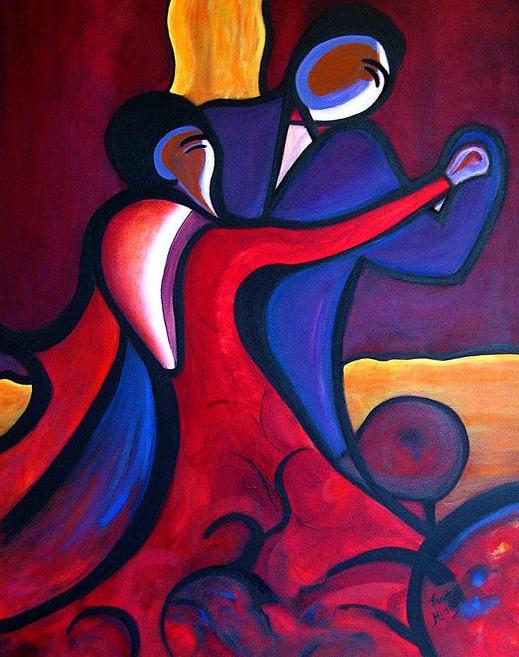 Large Paisley Dance